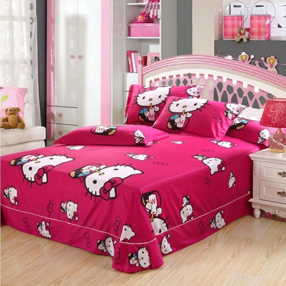 Image of: Cute Bedrooms Magnificent Hello Kitty Bedroom In A Box Hello Decor