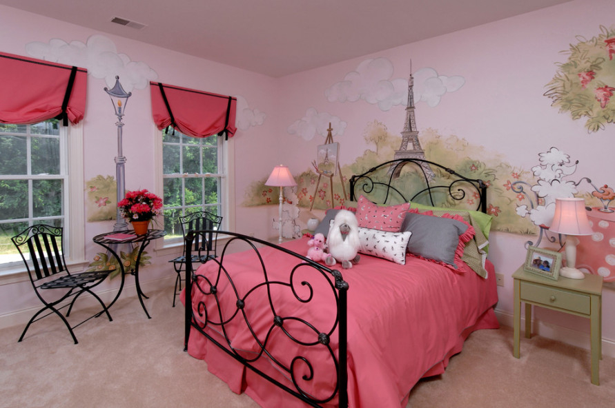 Eiffel Paris Themed Bedroom