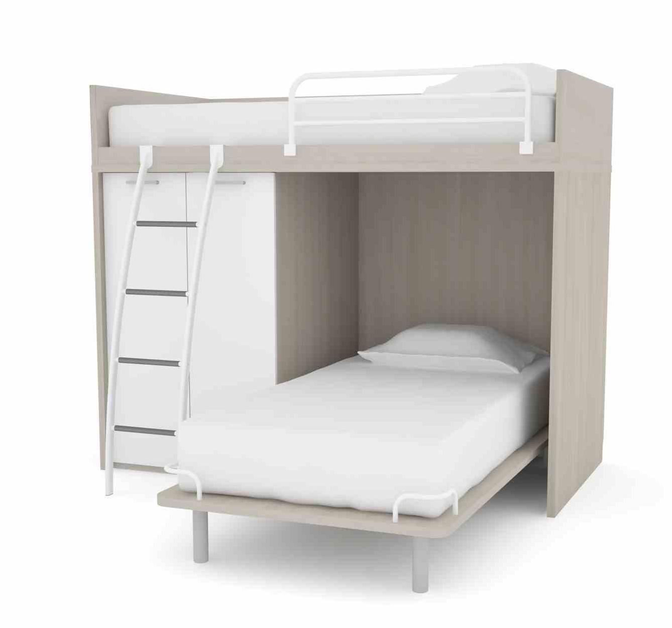 Image of: Modern L Shaped Bunk Beds For 3