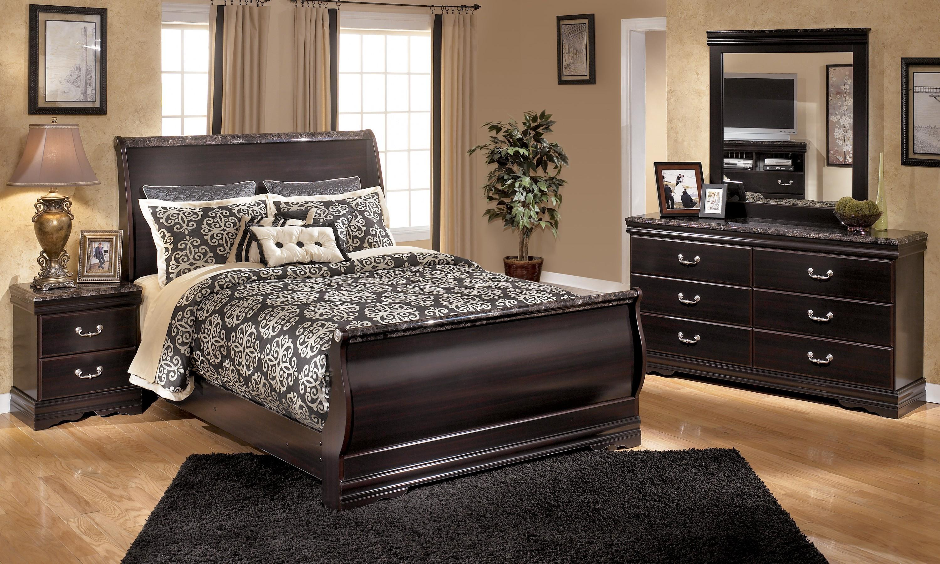 Image of: Ortanique Sleigh Bedroom Set