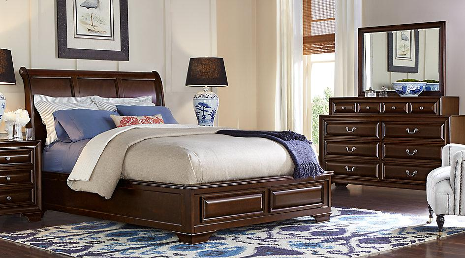 Image of: Sleigh Bedroom Sets Cherry Woods