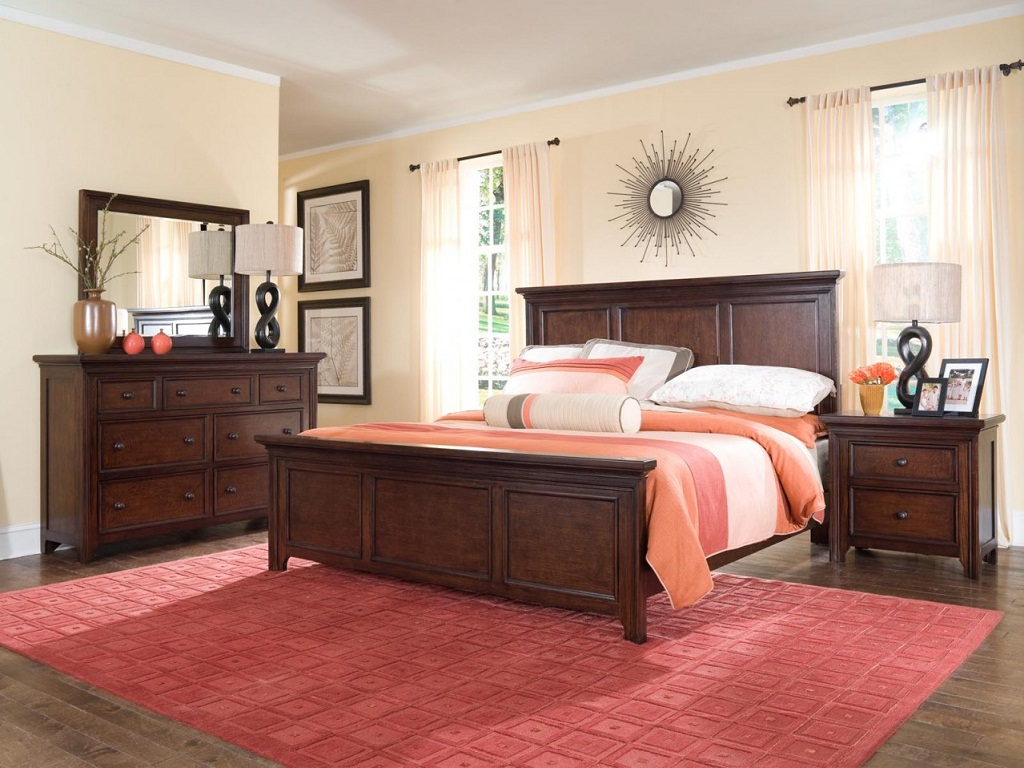 Square Bedroom Furniture Placement