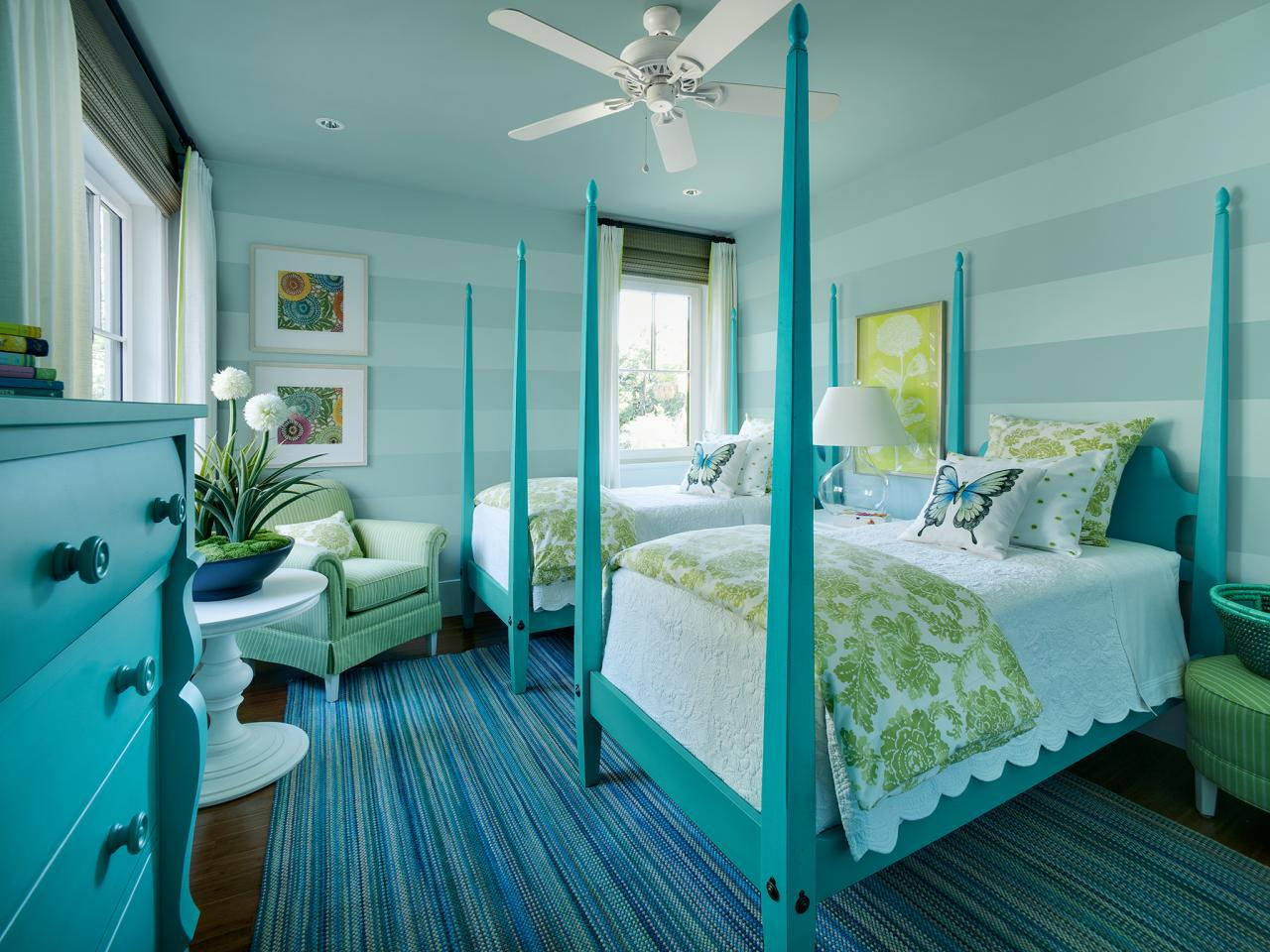 Image of: Turquoise Bedroom Decorations