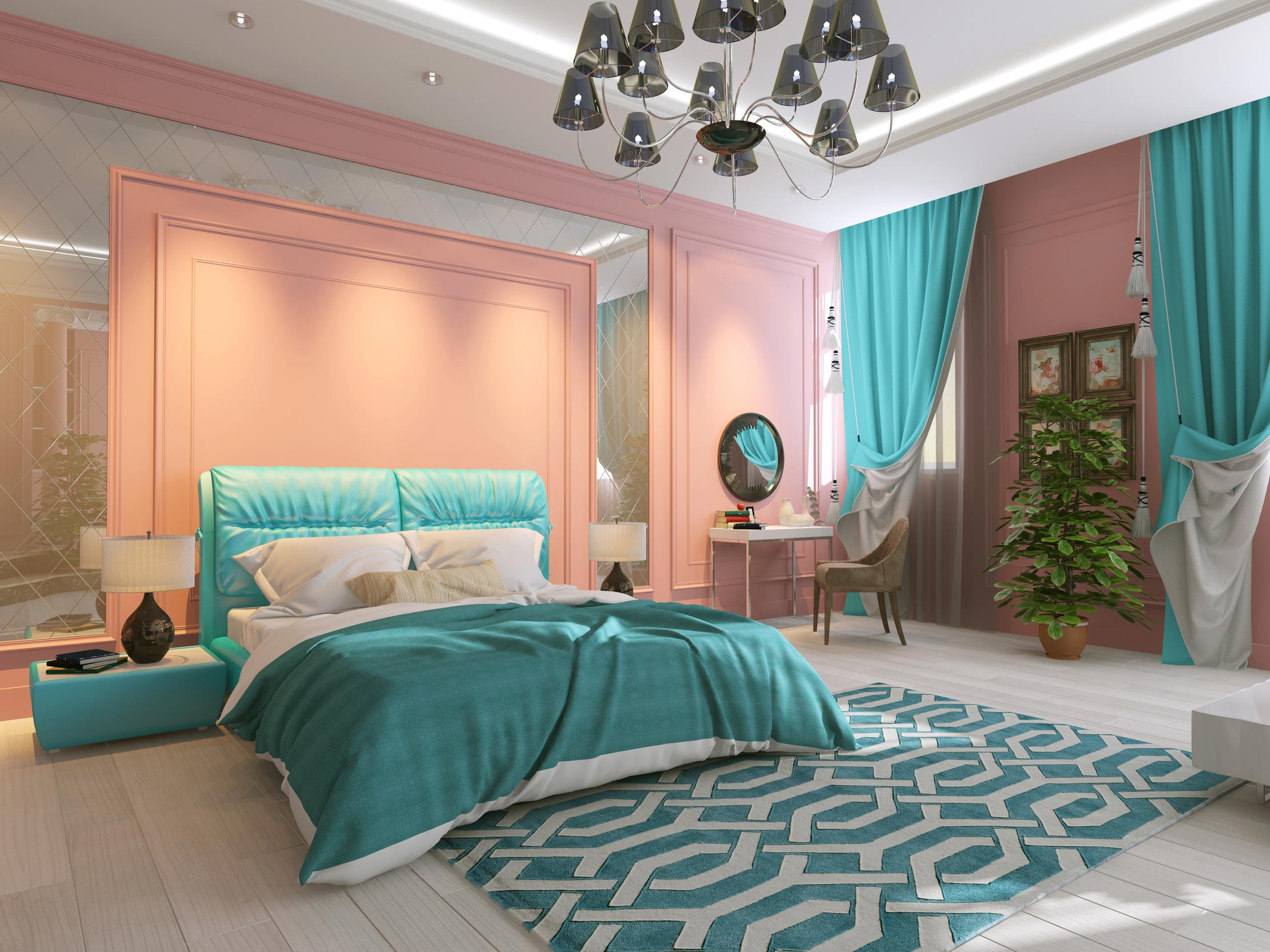 Image of: Turquoise Color Bedroom Ideas