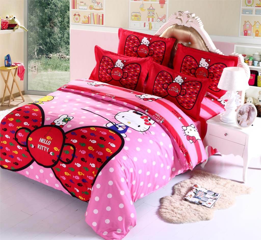 Image of: Hello Kitty Bedroom Set In A Box