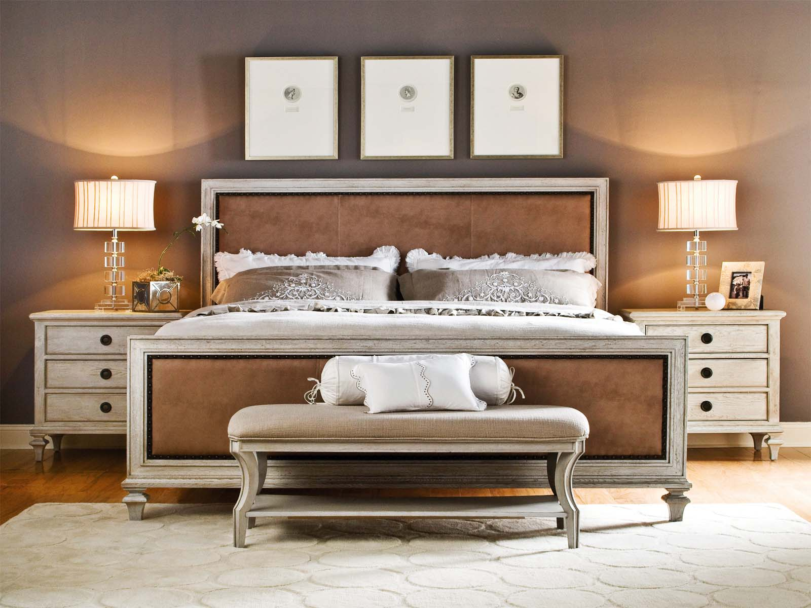 Image of: King Bedroom Sets Gray