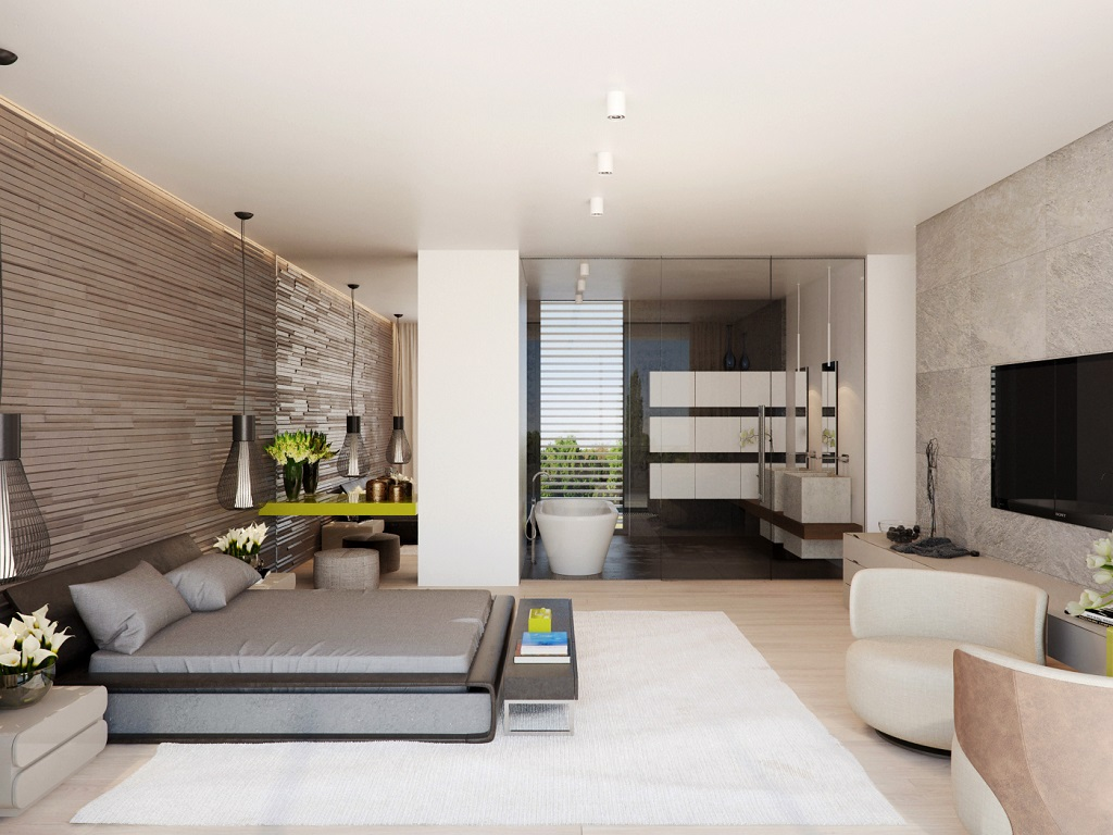 Image of: Master Bedroom And Bathroom