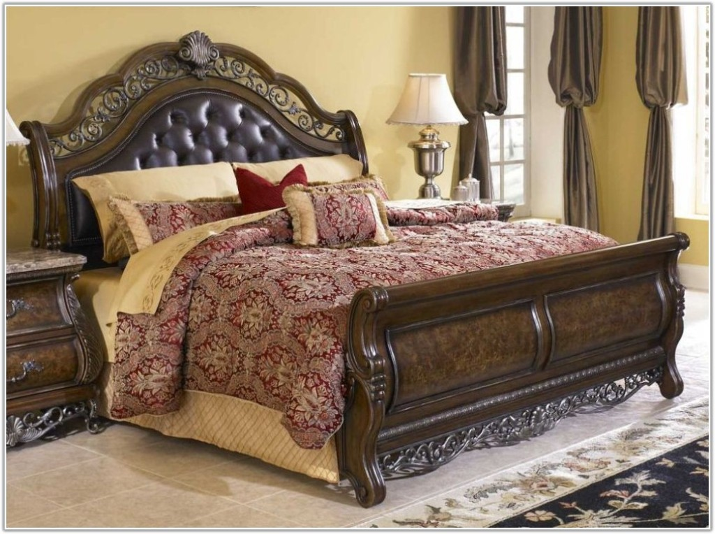 Image of: North Shore Sleigh Bedroom Set Reviews