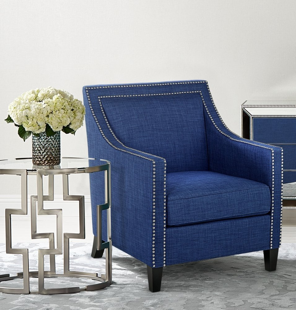 Amazing Navy Blue Accent Chair
