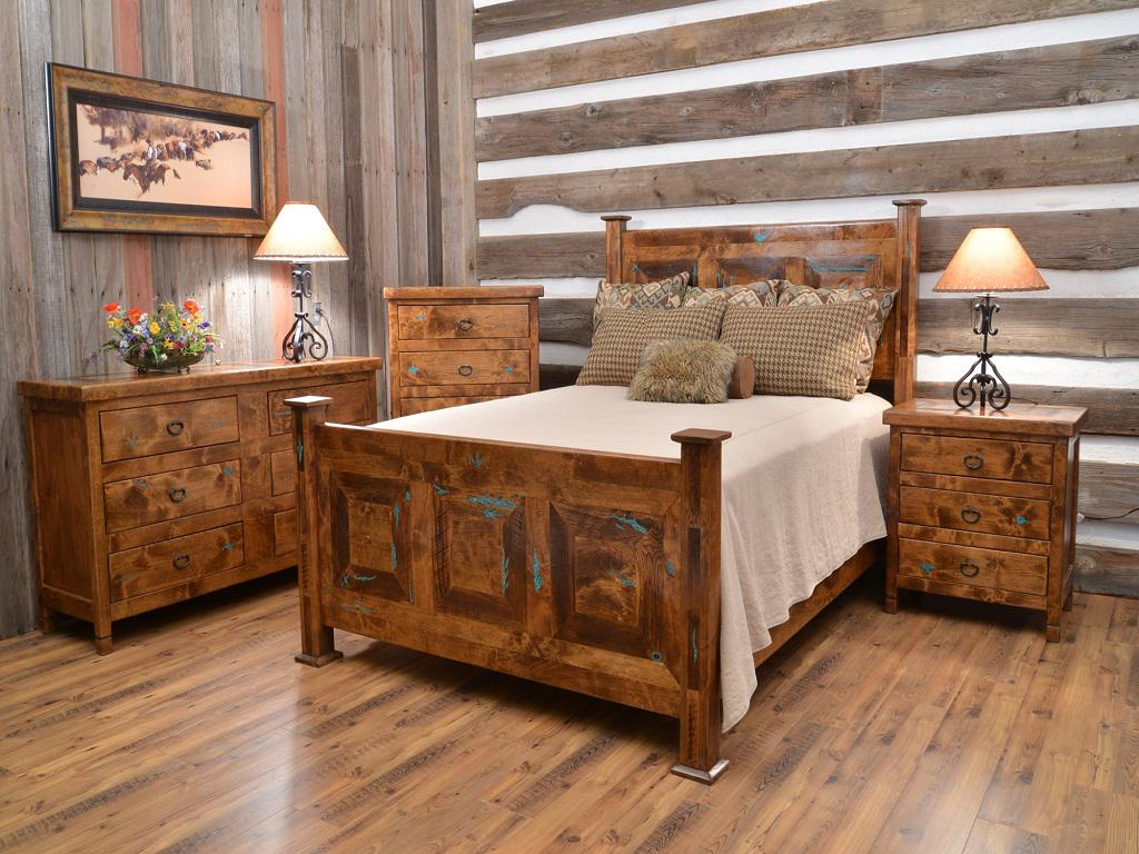 Image of: Amazing Rustic Wood Bedroom Sets