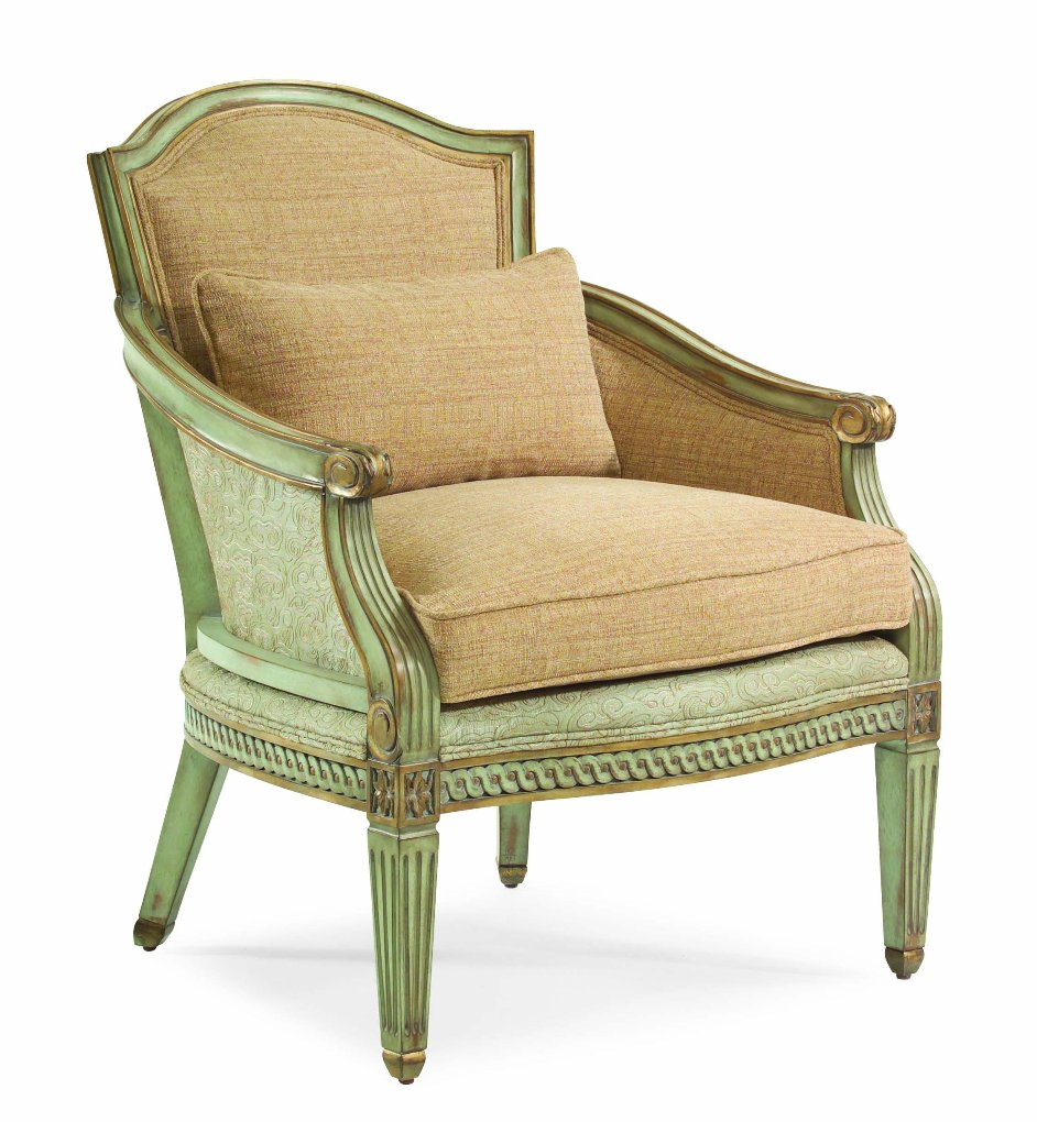 Image of: Antique Accent Chairs with Arms