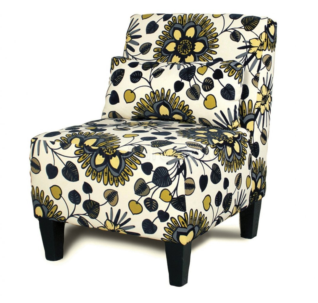 Image of: Armless Accent Chairs Floral