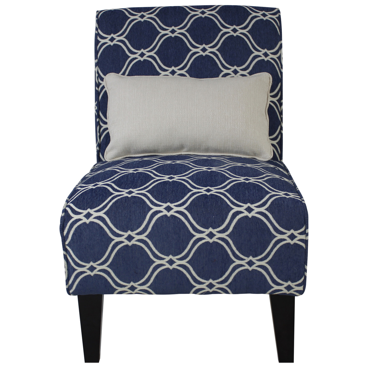 Image of: Armless Accent Chairs with Pillow