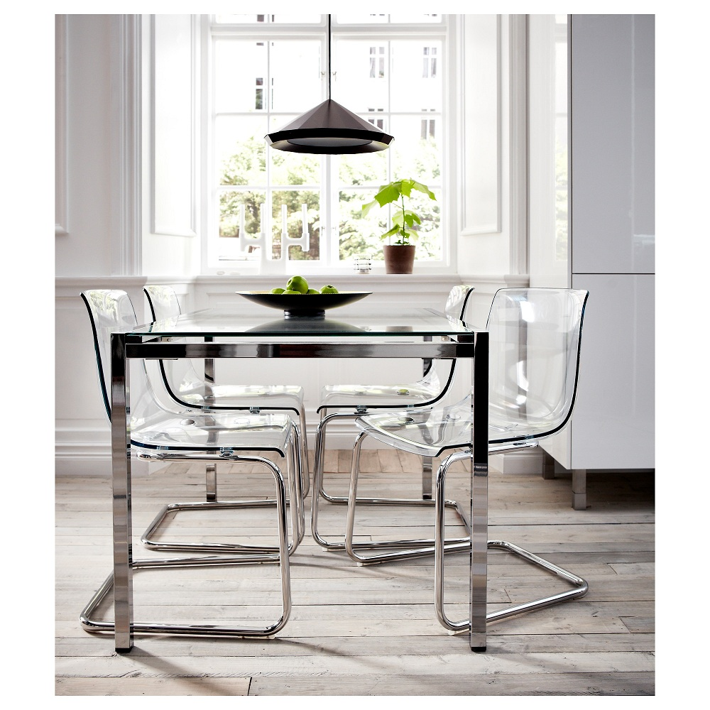 Image of: Austanding Lucite Dining Chairs