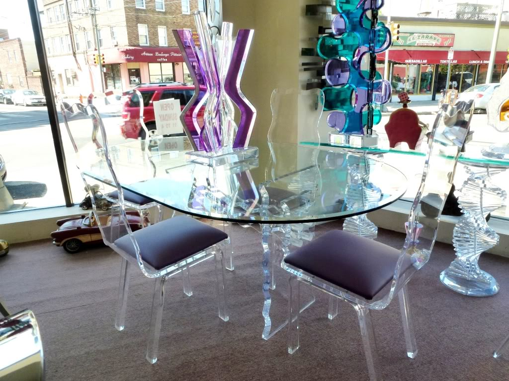 Image of: Awesoe Lucite Dining Chairs