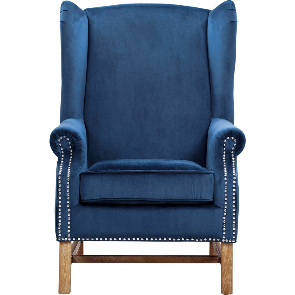 Image of: Awesome Navy Blue Accent Chair