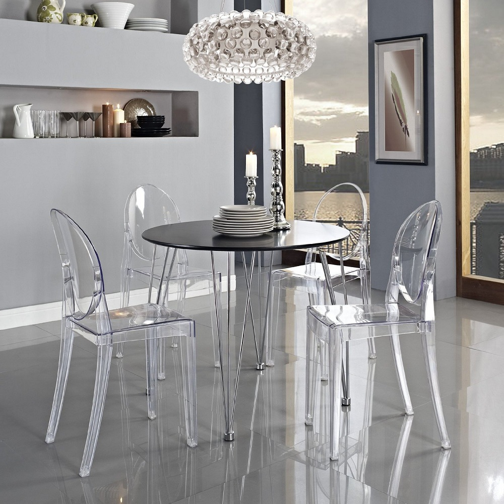 Image of: Beautiful Lucite Dining Chairs