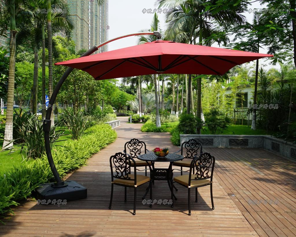 Image of: Beauty Offset Patio Umbrellas