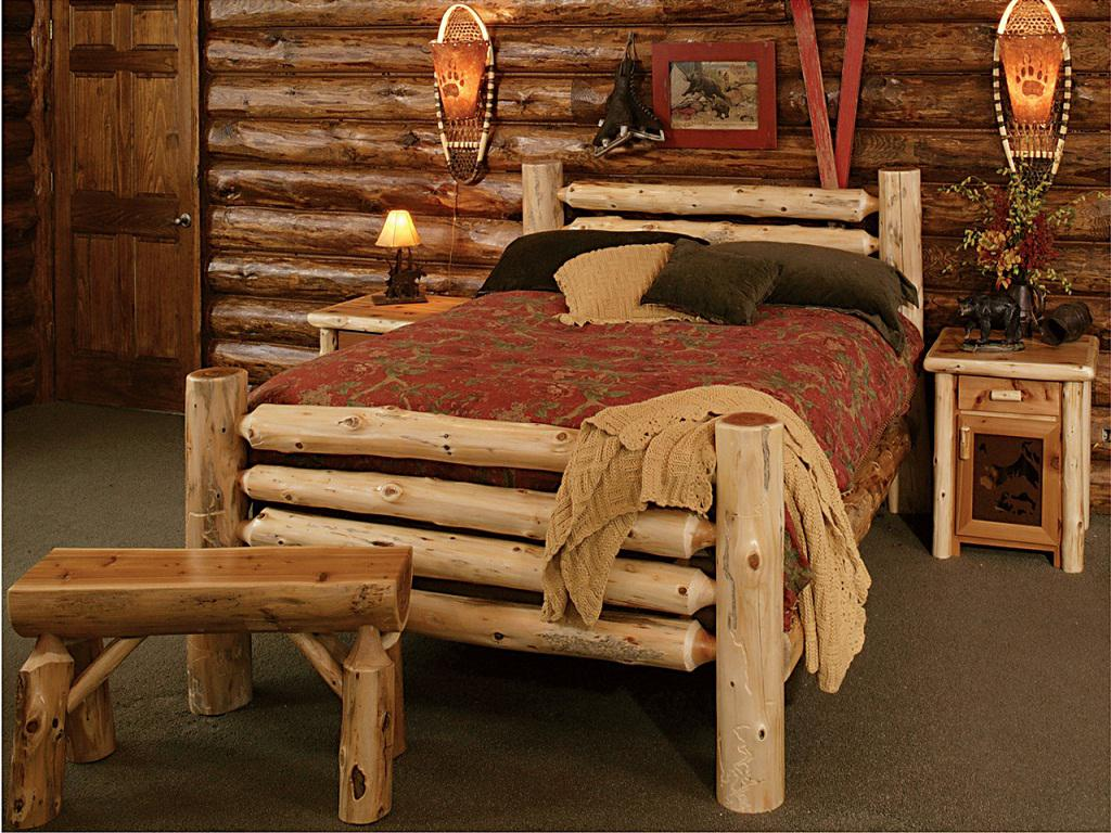 Image of: Beauty Rustic Wood Bedroom Sets