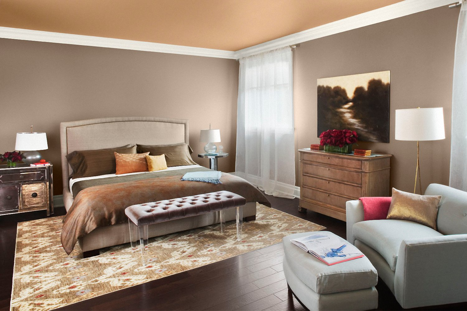 Image of: Bedroom Color Schemes With Black
