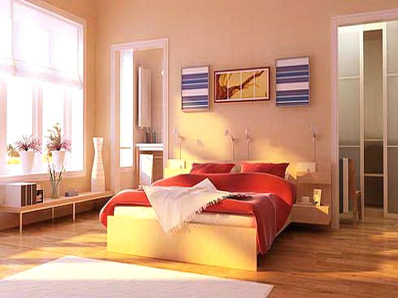 Image of: Bedroom Color Schemes With Red