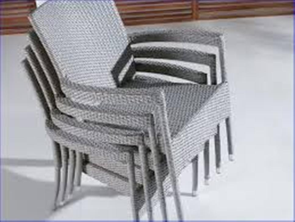 Image of: Beige Mesh Stackable Patio Chairs