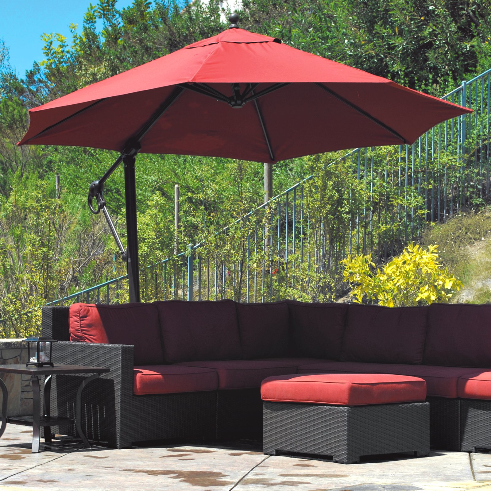 Image of: Best Offset Patio Umbrellas