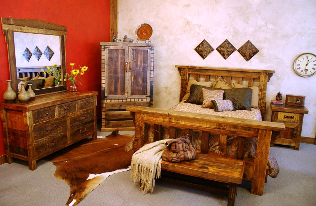 Image of: Best Rustic Bedroom Sets King