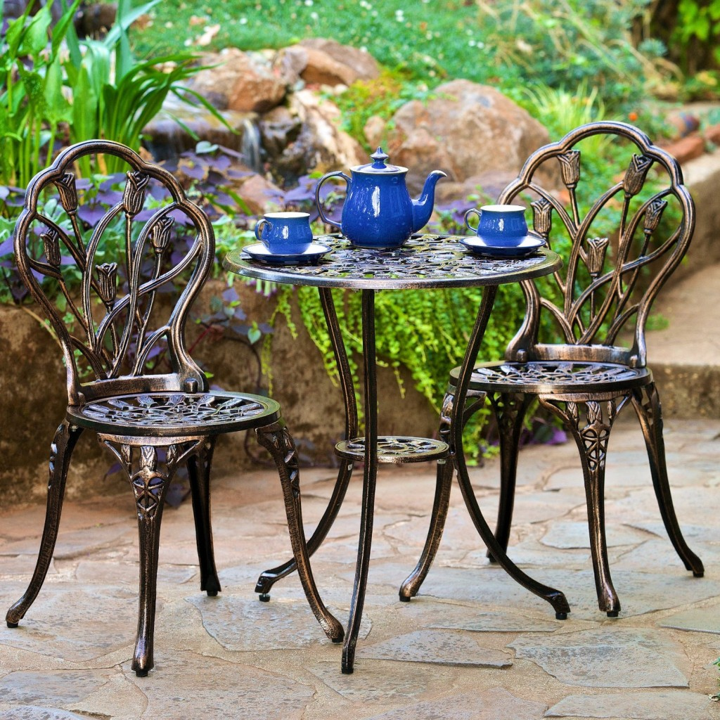 Image of: Bistro Wrought Iron Patio Furniture Sets