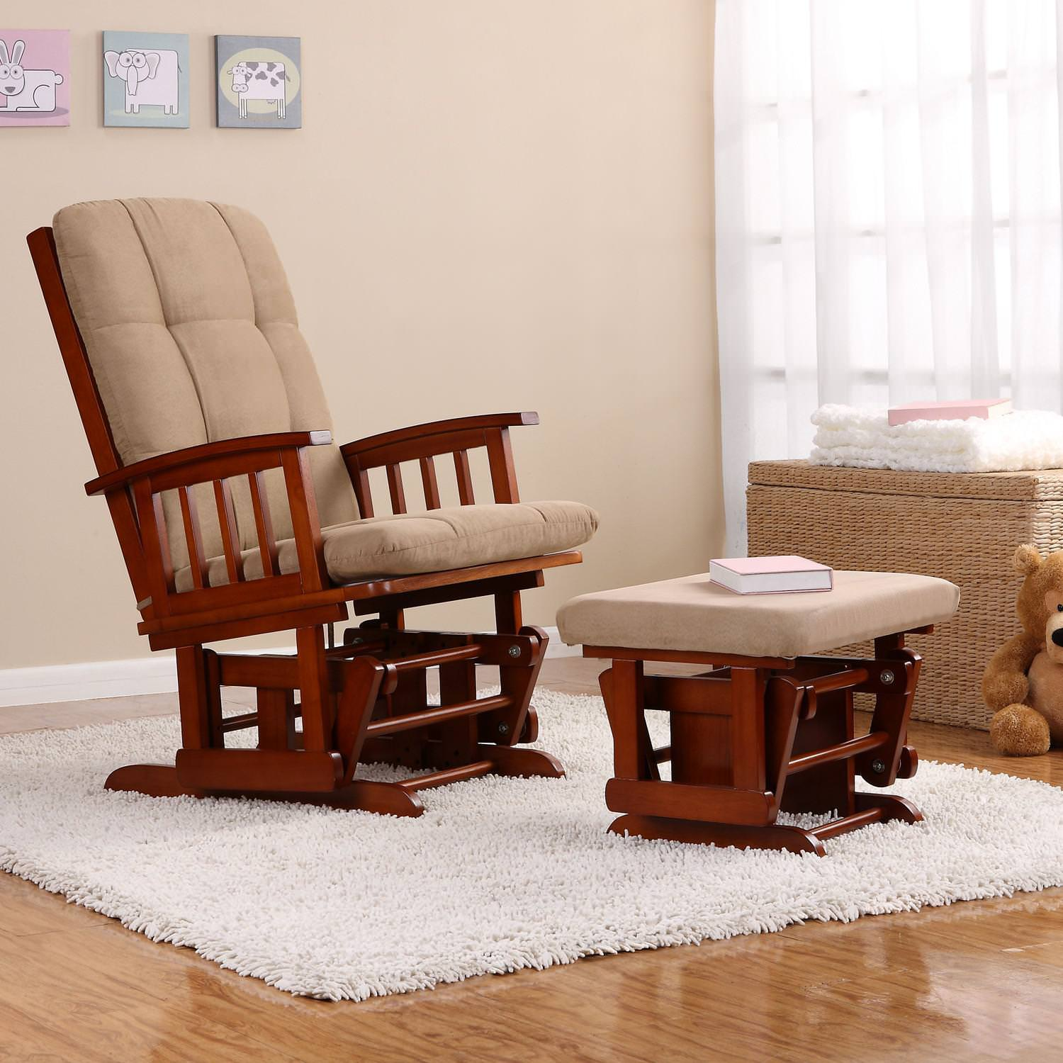 Image of: Black Floral Upholstered Rocking Chairs