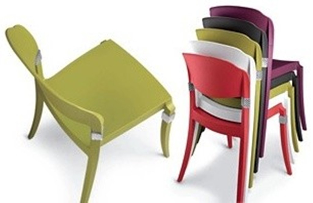 Image of: Black Metal Stackable Patio Chairs Ideas