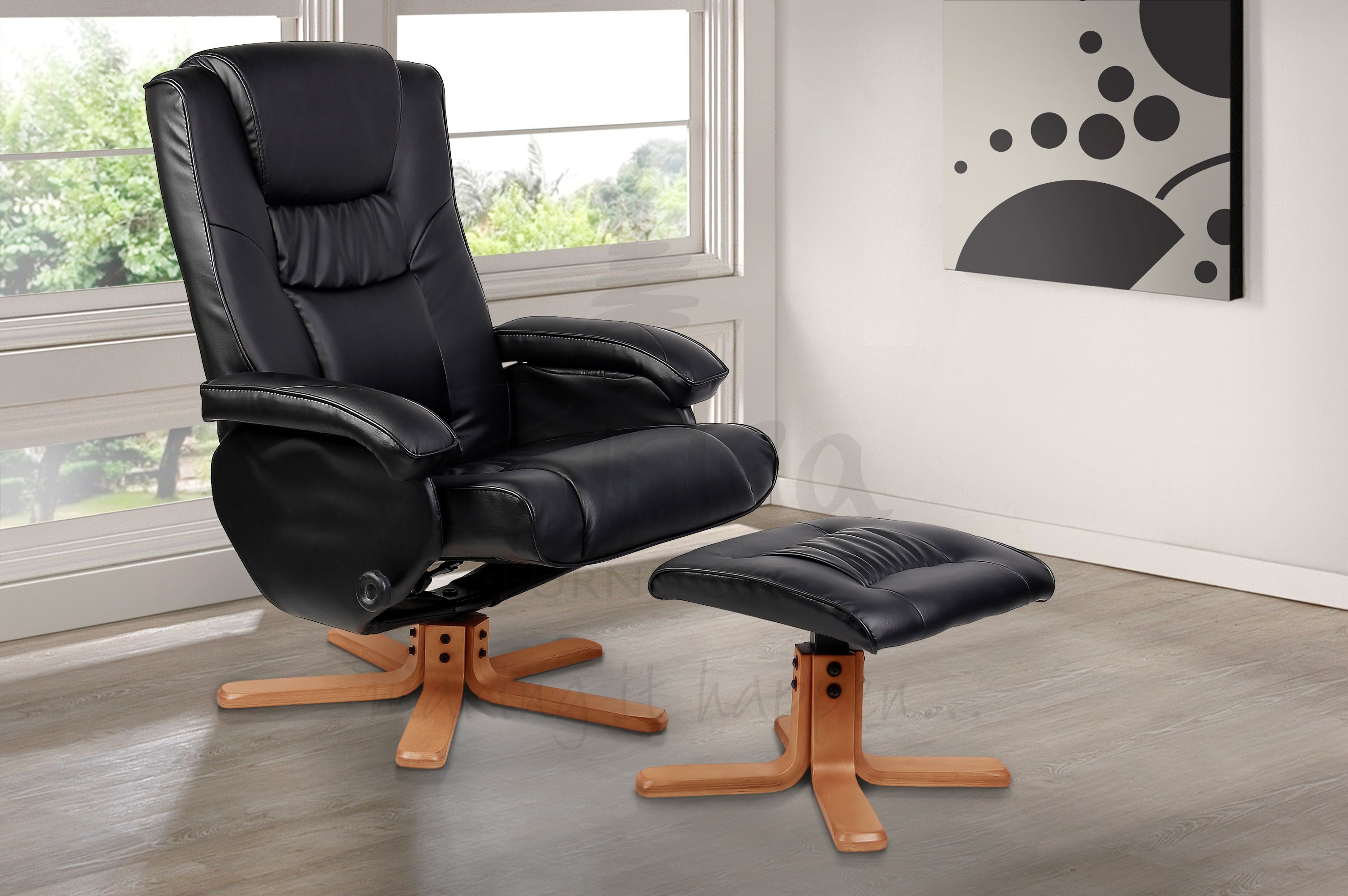Image of: Black Recliner Massage Chair