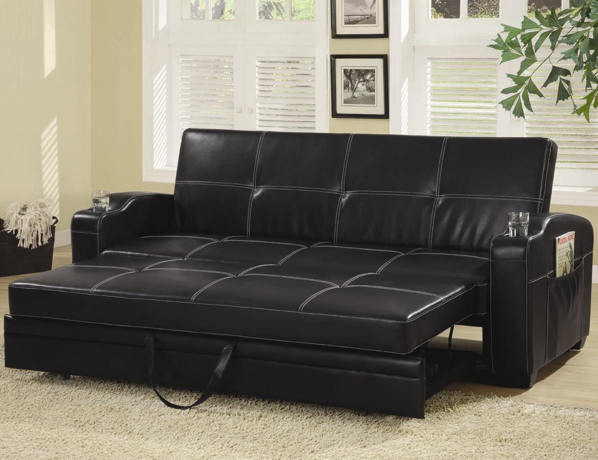 Image of: Black Sleeper Chair Bed