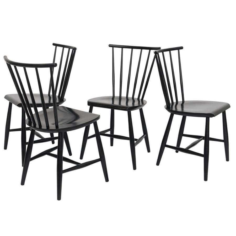 Image of: Black Windsor Dining Chairs