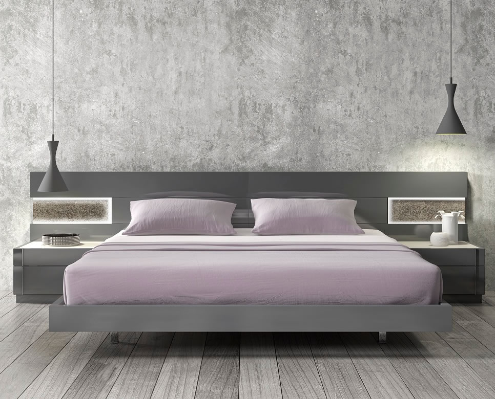 Image of: Braga Modern Platform Bed