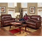 Brown Leather Chair and a Half Recliner