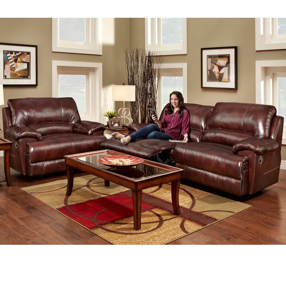 Image of: Brown Leather Chair and a Half Recliner