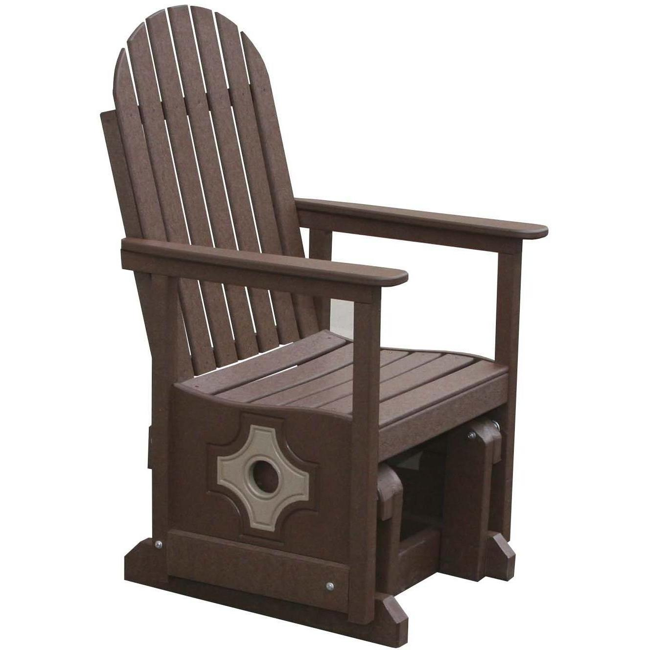 Image of: Brown Patio Glider Chair