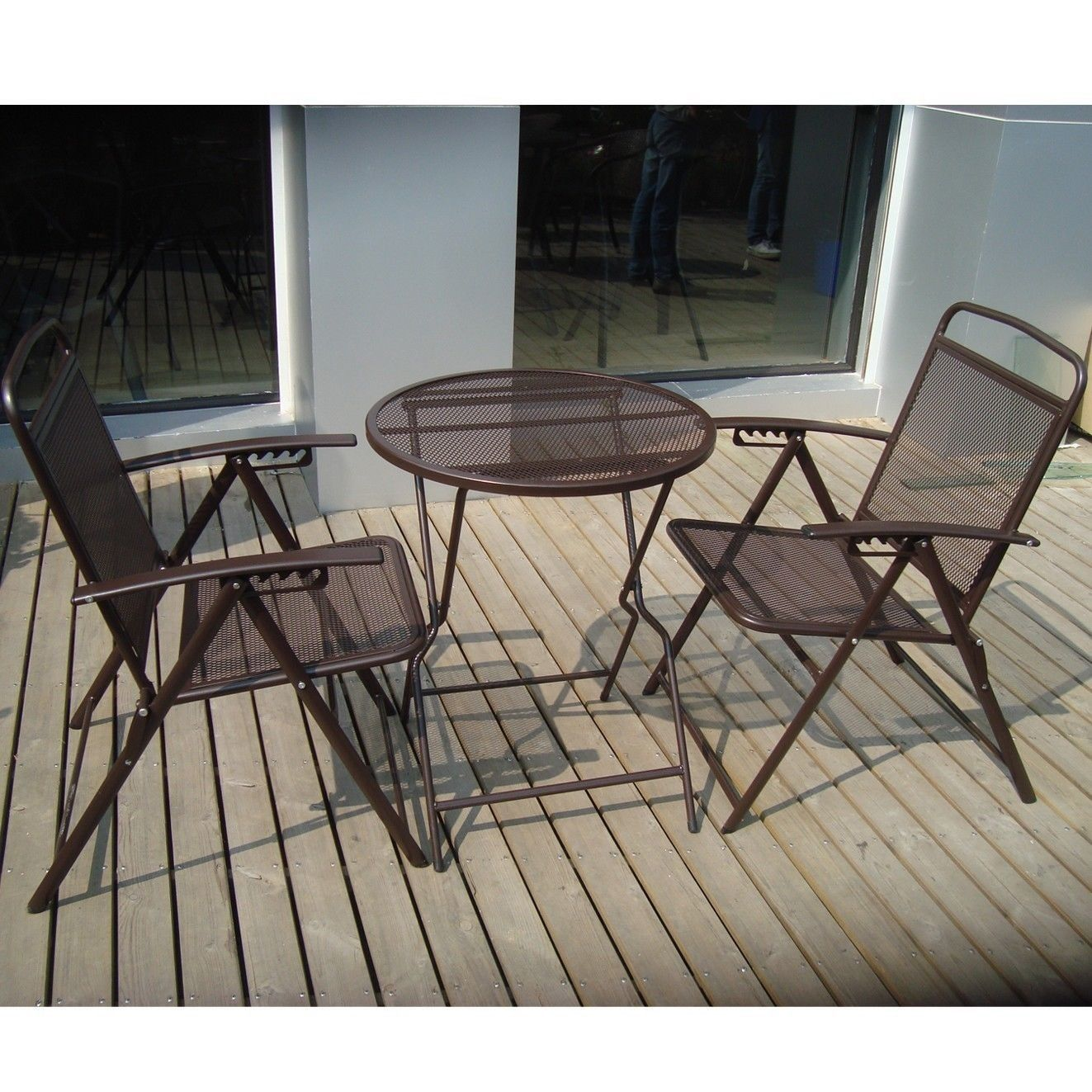 Image of: Brown Wrought Iron Patio Set