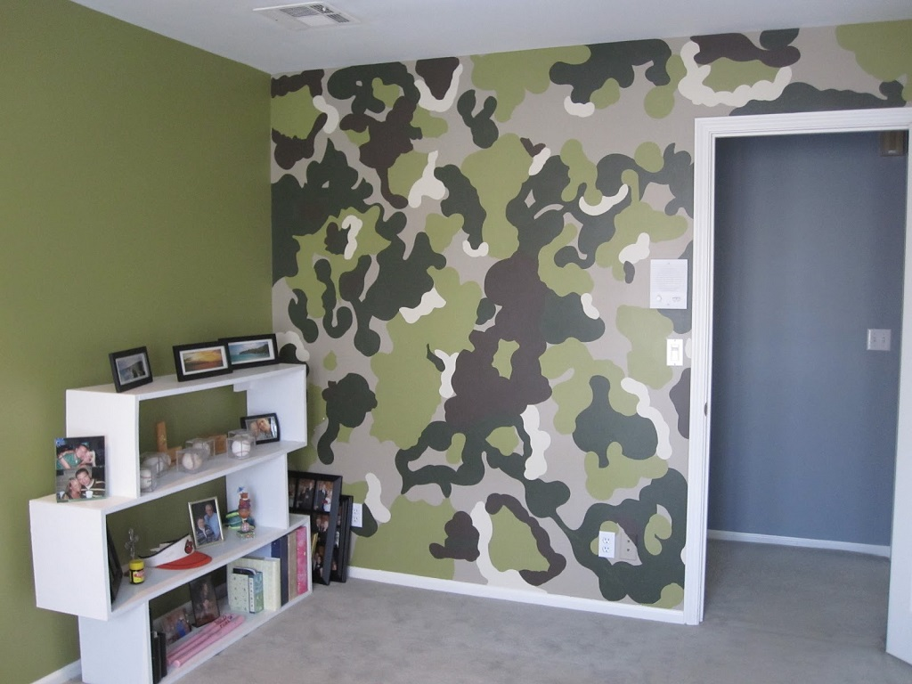 Image of: Camouflage Bedroom Painting Ideas
