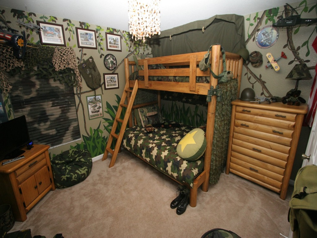 Image of: Camouflage Paint Ideas For Bedroom