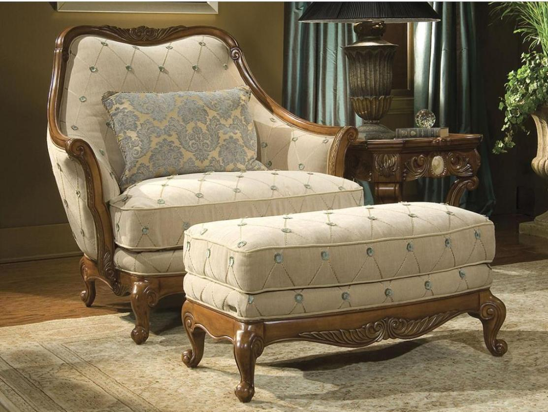 Image of: Chair and a Half Recliner Ottoman