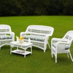 Coastal White Wicker Patio Furniture