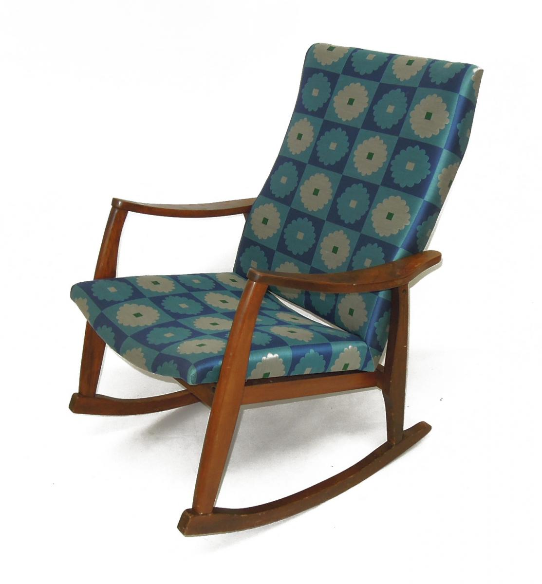 Color Mid Century Modern Rocking Chair