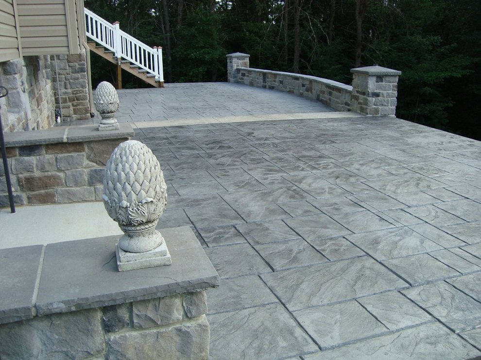 Colored Stamped Concrete Patio