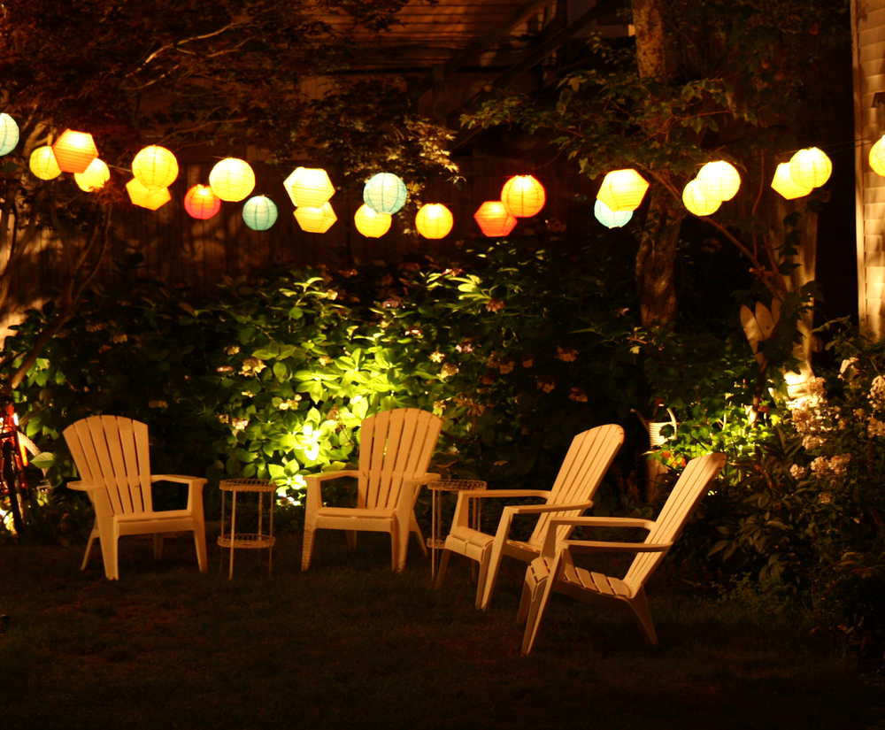 Image of: Colorful Solar Patio Lights