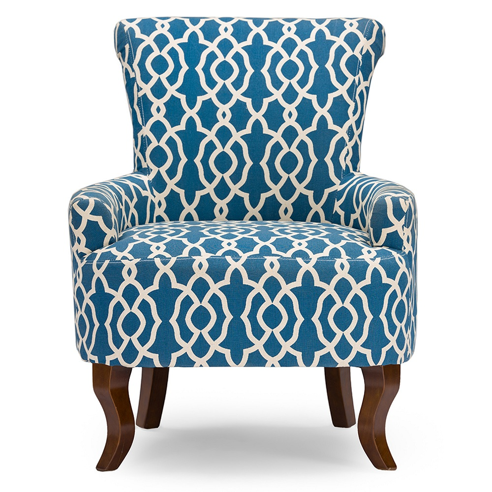 Image of: Contemporary Navy Blue Accent Chair