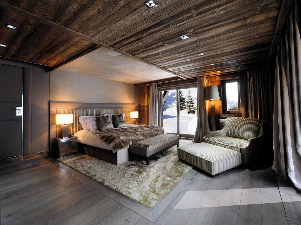 Image of: Contemporary Rustic Bedroom