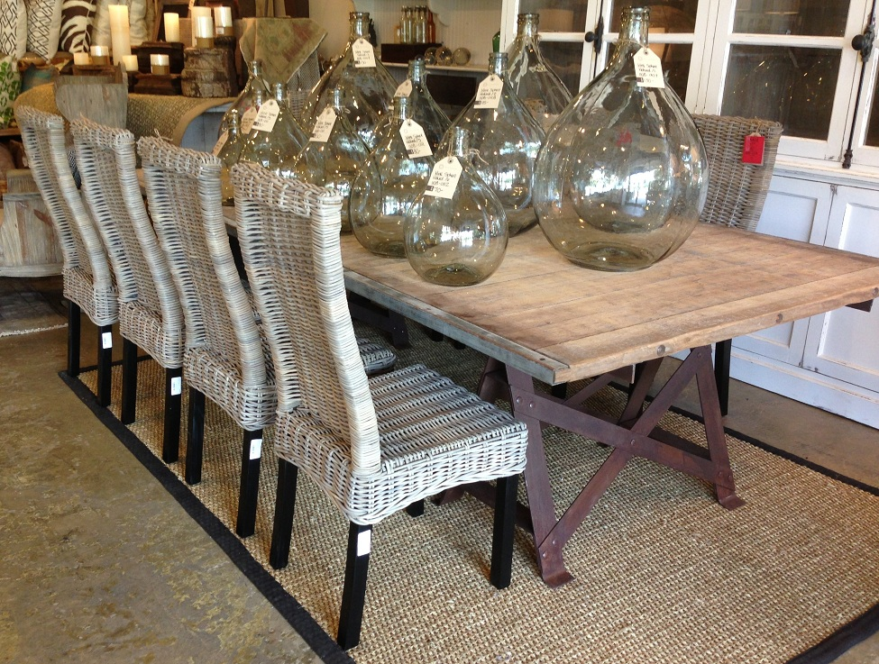 Image of: Cool Seagrass Dining Chairs