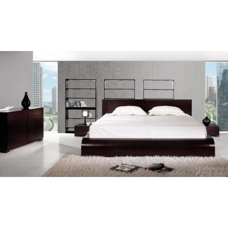 Image of: Curve Modern Platform Bed